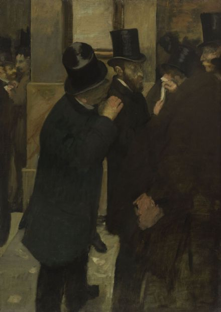 Degas, Edgar: Portraits at the Stock Exchange. Fine Art Print/Poster. Sizes: A4/A3/A2/A1 (003757)
